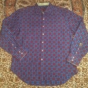 Robert Graham Casual Button Up Shirt,  XL